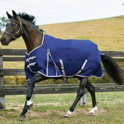 WeatherBeeta ComFiTec Essential Lite Turnout Rug 0g Navy/Silver/Red