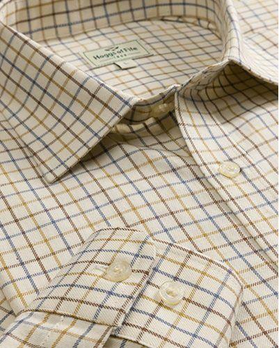 Hoggs of Fife Tatterstall Shirt Brown/Gold/Navy