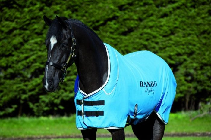 Horseware Rambo Dry Rug Supreme Blue/Black/White
