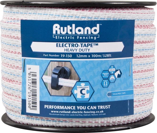 Rutland 12mm Electro-Tape White