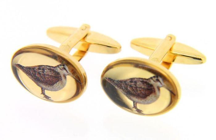 Sax Mens Woodcock Cufflinks Gold