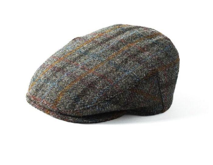 Failsworth Stornoway Harris Tweed Flat Cap Brown Mix