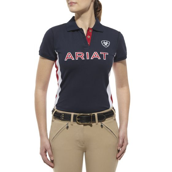 Ariat Ladies Team Polo Navy