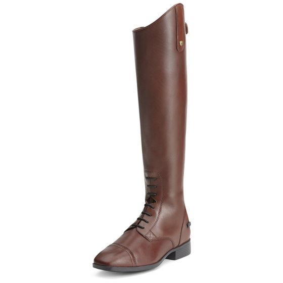 Ariat Ladies Challenge Contour Square Toe Zip Riding Boots Brown