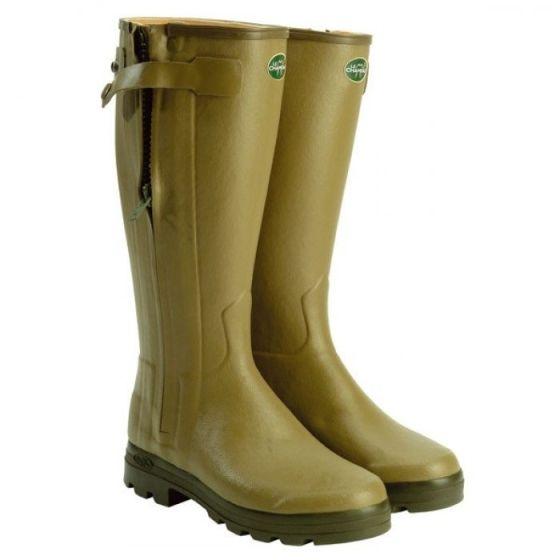 Le Chameau Mens Chasseur Cuir Wellington Boots