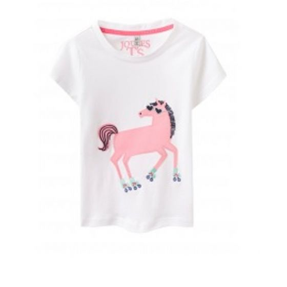 Joules Jnr Maggie Top Bright White Horse