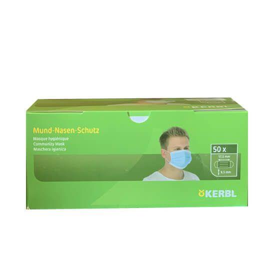 Kerbl Hygiene Face Mask Pack of 50