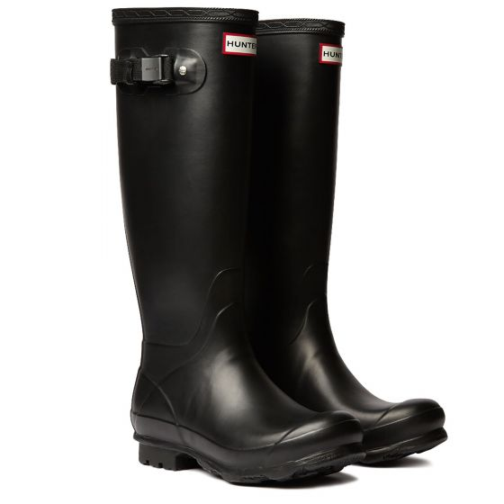 Hunter Norris Field Wellington Boot Black