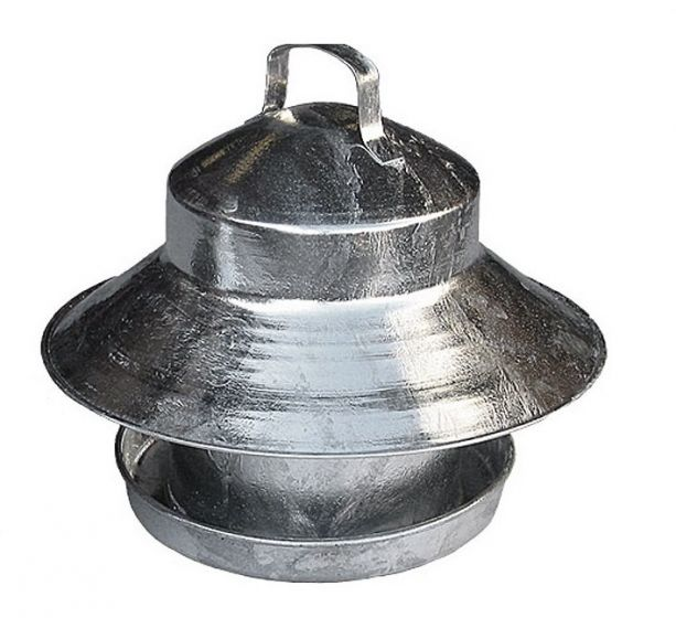Galvanised Outdoor Poultry Feeder 6.5kg