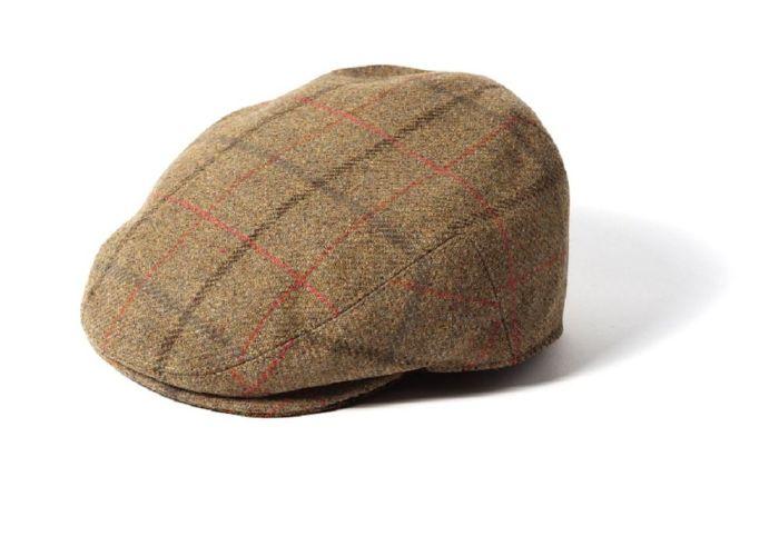 Failsworth Gamekeeper Wool Tweed Flat Cap Beige Large Check