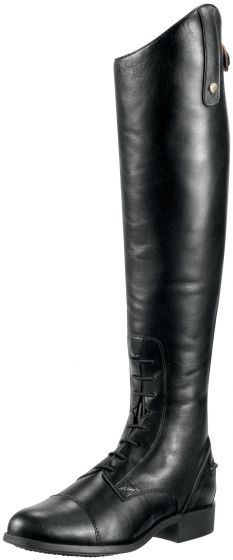 Ariat Ladies Heritage Contour Field Zip Riding Boots Black