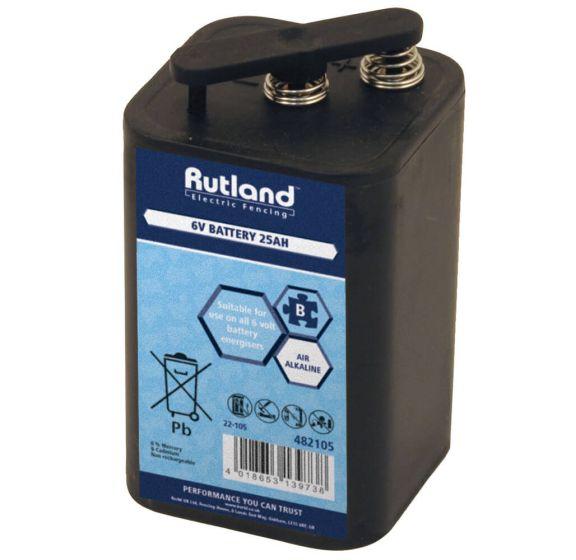 Rutland Electric Fencing 6 Volt Battery 25Ah