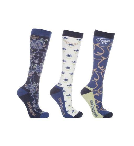 Toggi Ladies 3 Pack Arona Floral Socks