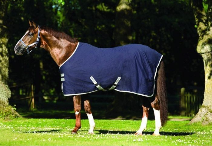 Horseware Amigo Stable Sheet Navy Silver