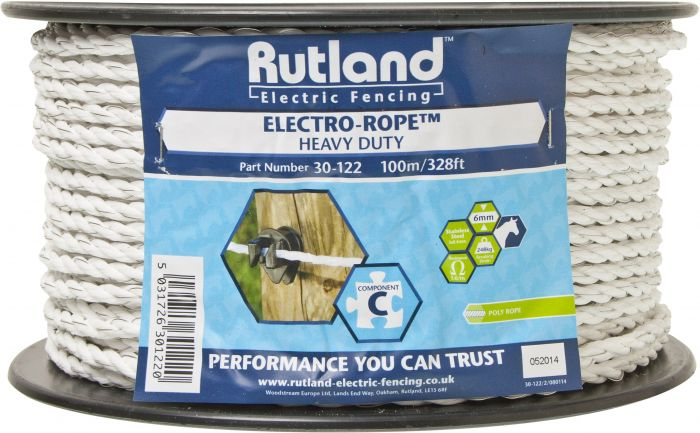 Rutland 6mm Electro-Rope White