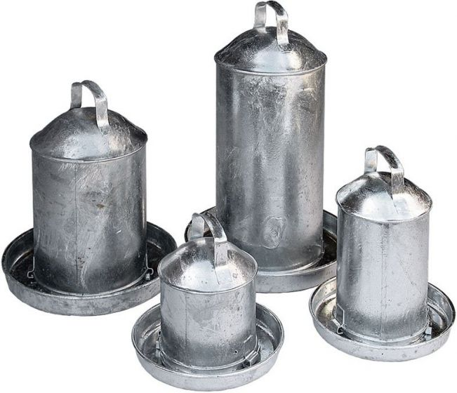 Galvanised Fountain Poultry Drinker 3 Gallon