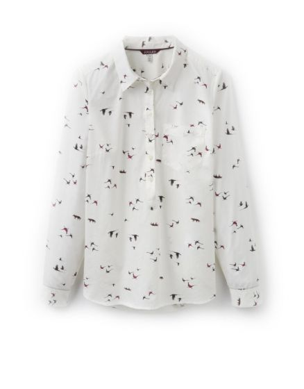 Joules Ladies Charlotte Pop-Over Shirt Fox and Pheasant