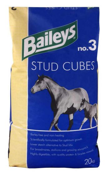 Baileys No.3 Stud Cubes Horse Feed 20kg