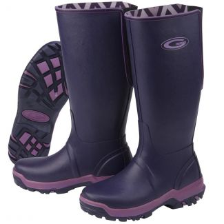 Grubs Rainline Wellington Boots Aubergine