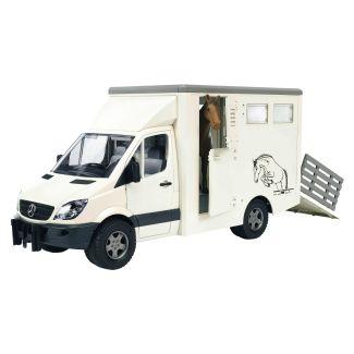 Bruder MB Sprinter Horse Transporter with Horse Toy