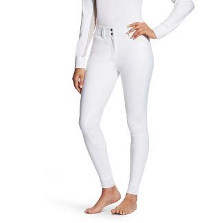 Ariat Ladies Tri Factor Knee Patch Grip Breeches White