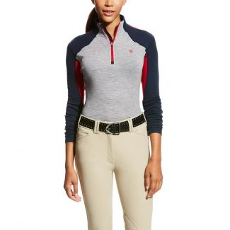 Ariat Ladies Cadence Wool 1/4 Zip Top Team