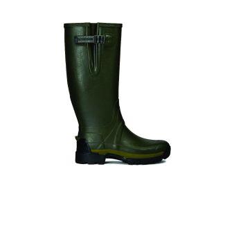 Hunter Mens Balmoral Side Adjustable II Neoprene 3mm Wellington Boots Olive