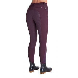 Montar Ladies Nancy Soft Tech Full Seat Silicone Breeches Plum
