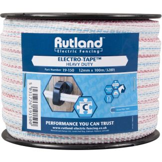 Rutland 12mm Electro-Tape White