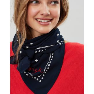 Joules Ladies Tiewell Square Neckerchief Scarf