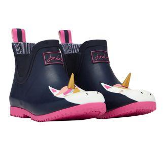 Joules Kids Girls Wellibob Short Wellington Boots