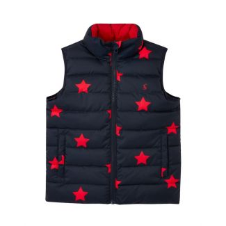 Joules Kids Boys Flip It Reversible Gilet