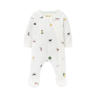 Joules Baby Zip Organically Grown Cotton Babygrow