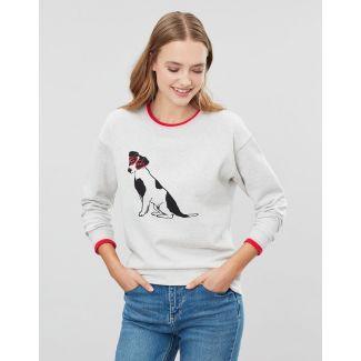 Joules Ladies Presley Rib Trim Slim Fit Sweatshirt