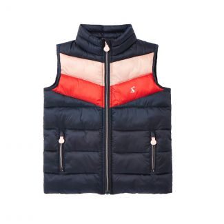 Joules Kids Girls Brook Packaway Padded Gilet - Chelford Farm Supplies