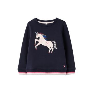 Joules Kids Girls Mackenzie Applique Sweatshirt