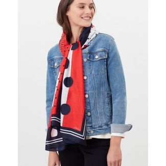 Joules Ladies River Printed Scarf