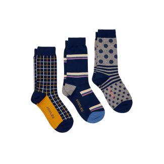 Joules Mens Striking 3 Pack Socks