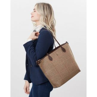 Joules Ladies Adeline Tweed Tote Shopper Bag