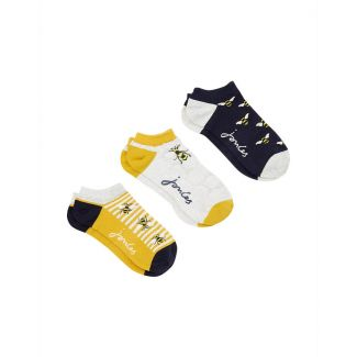 Joules Ladies Rilla Bamboo Trainer Socks Pack Of 3