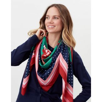 Joules Ladies Agatha Large Square Scarf