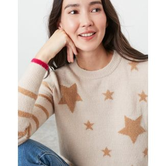 Joules Ladies Chantelle Star Intarsia Jumper