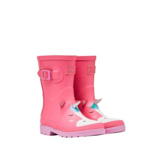 Joules Kids Girls Printed Wellington Boots