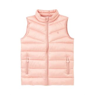 Joules Kids Girls Brook Soft Metallic Padded Gilet