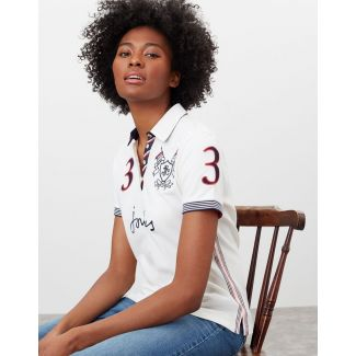 Joules Ladies Beaufort Admiral Embroidered Polo Shirt