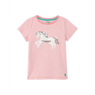 Joules Kids Girls Paige Squishy Artwork T-Shirt