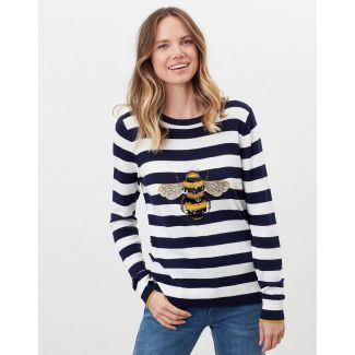 Joules Ladies Miranda Luxe Knitted Crew Neck Jumper