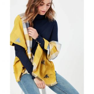 Joules Ladies Farnsley Check Jacquard Scarf