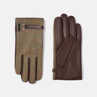 Joules Ladies Allerdale Tweed & Leather Gloves