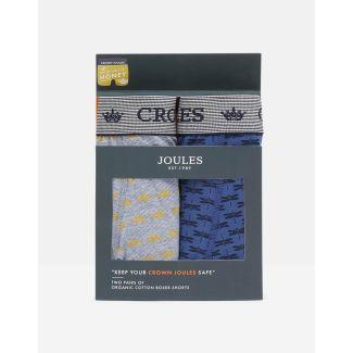 Joules Mens Crown Joules Printed Underwear 2 Pack